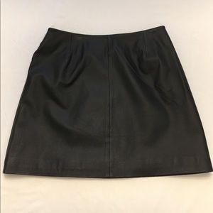 BB Dakota 100% Leather Mini Skirt